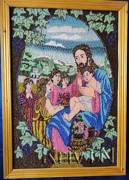"""Продам в Одессе: Картина-икона  """"Исус.Благосл. """", вышивка бисером за 8 000 грн."""