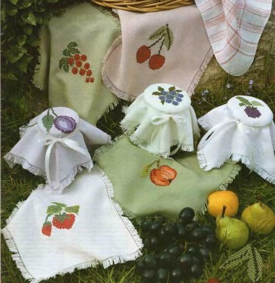 Бесплатные схемы фруктовых салфеток.