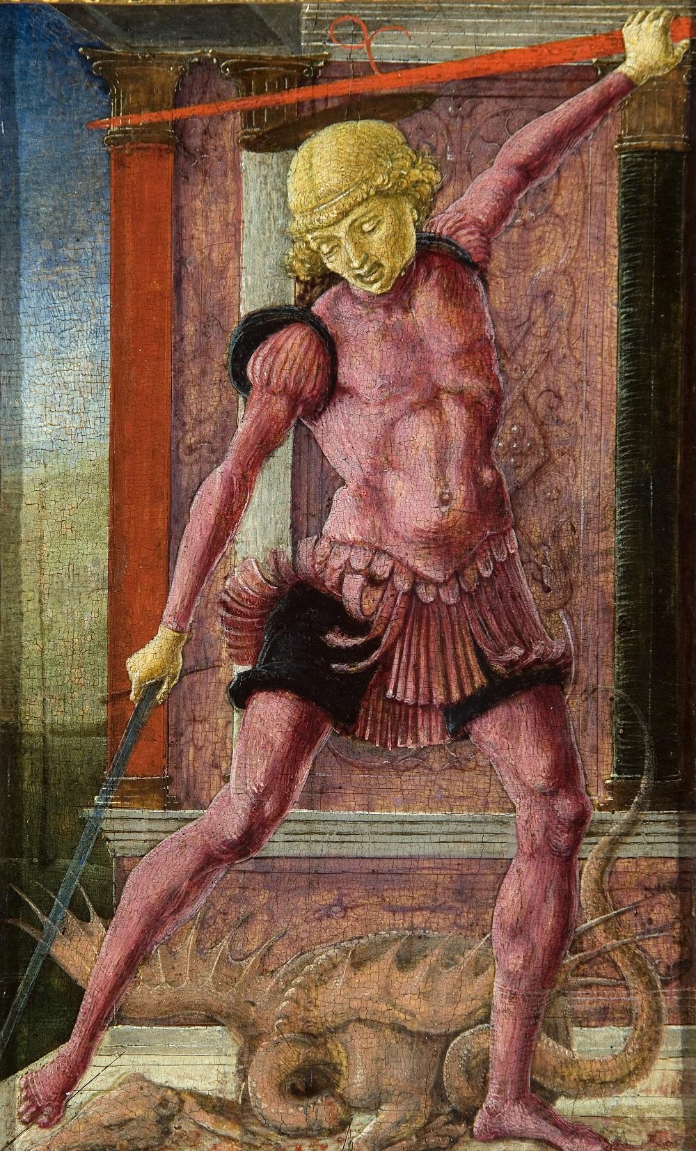 1460 TURA, Cosmè St George c. 1460 Panel, 22 x 13 cm Collezione Vittorio Cini, Venice.jpg