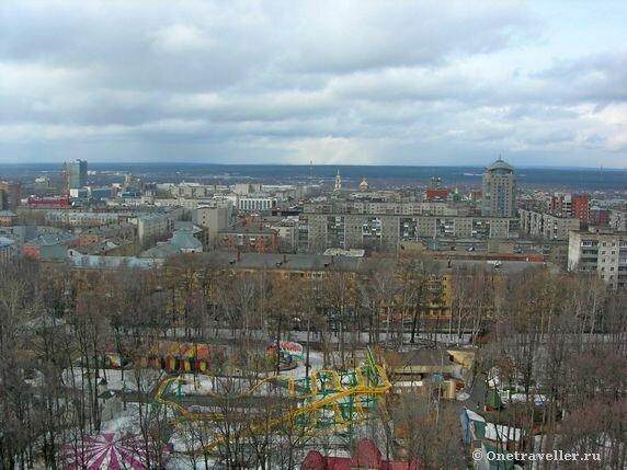 Пермь. Обзорный вид с высоты 50 метров