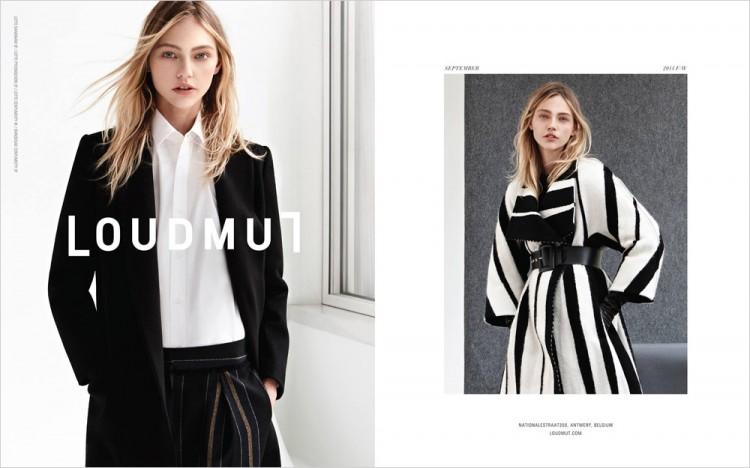 Саша Пивоварова (Sasha Pivovarova) для Loudmut (3 фото)
