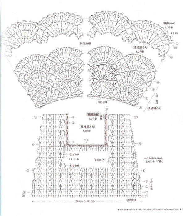 Схема вязания крючком платья для детей