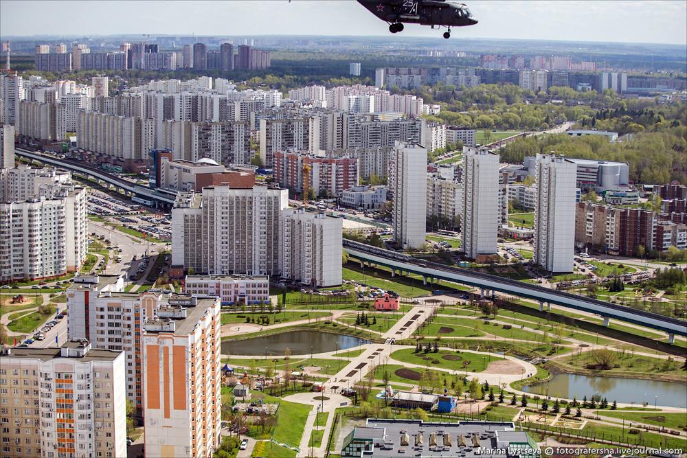 Москва с вертолета