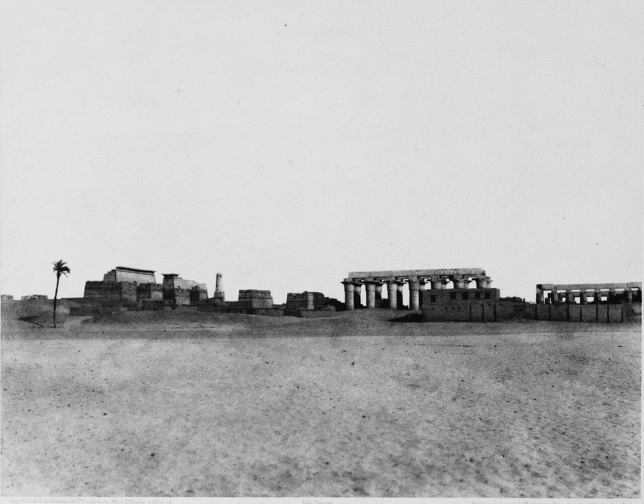 Луксор. Общий вид. 1851