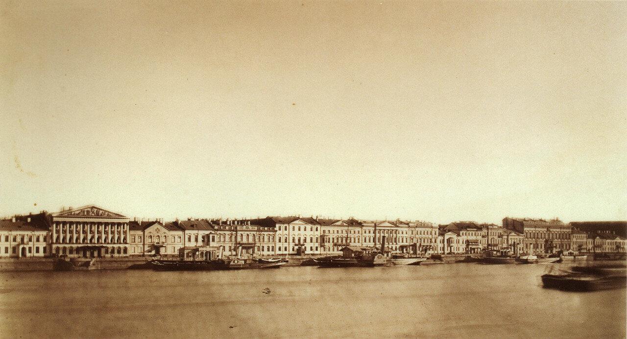 Панорама Английской набережной. 1860-е