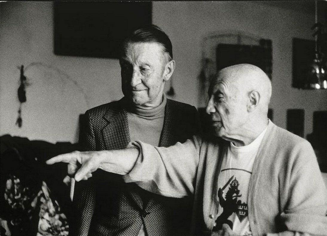 Пикассо и Альберт Скира