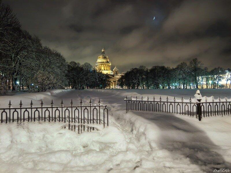 Зимой на Сенатской