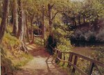 "The forest path Oil on canvas 71.8 x 52.1 cm(28.27"" x 20.51"") Private collection"
