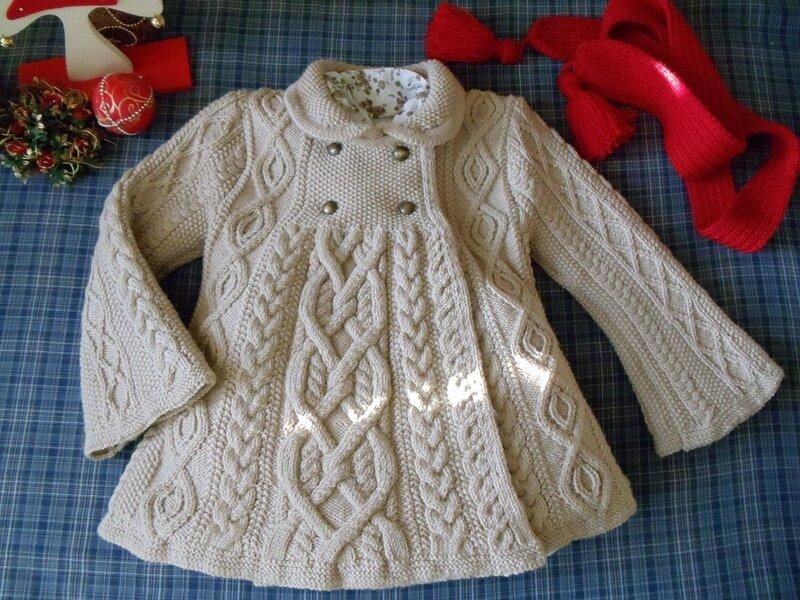 Пальто Вязание спицами, крючком, уроки вязания 91