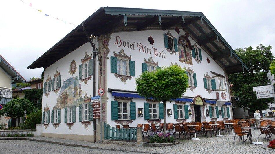 Роспись фасадов домов в Баварии