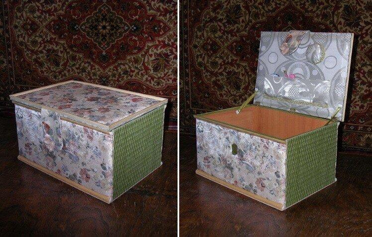 Шкатулка для рукоделия из коробки своими руками
