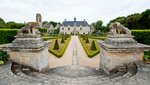 The 17th century gardens of Château de Brécy, Normandy, France (IV) - View from the third terrace