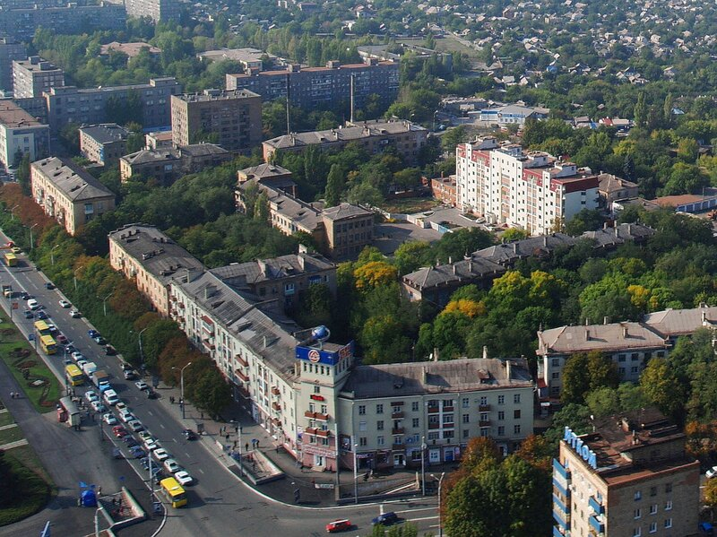 Веб камера в Мариуполе, пpоспект Ленина онлайн, Украина