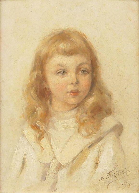 """Маковский Владимир Егорович (1846-1920). """"Детский портрет"""". 1910"""