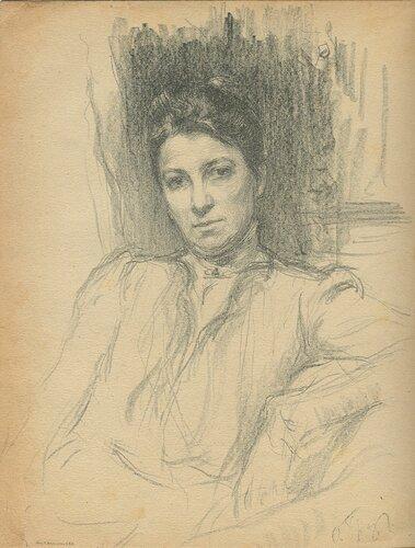 Осип Эммануилович Браз (1873-1936)     Портрет Марии Гавриловны Савиной (1854-1911) 1900 год