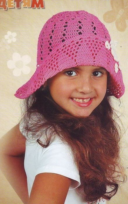 Метки: вязание крючком шляпка шляпка для девочки - Комментарии .  Связать такую шапку можно по любой самой простой...