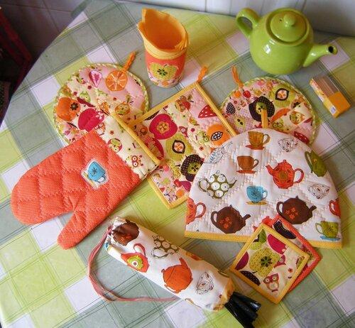 Красивые прихватки из ткани на подарок