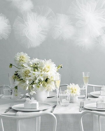 Цветы на праздничном столе