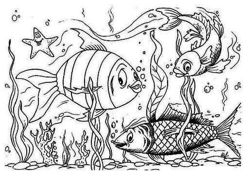 Шаблоны рыбок для рисования