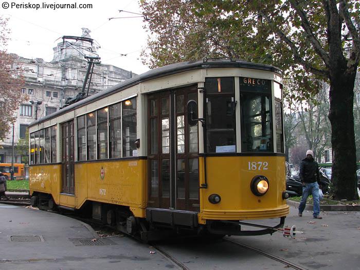 Довоенный трамвай близ вокзала