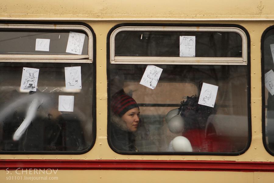 Акция в поддержку трамвайного парка №2
