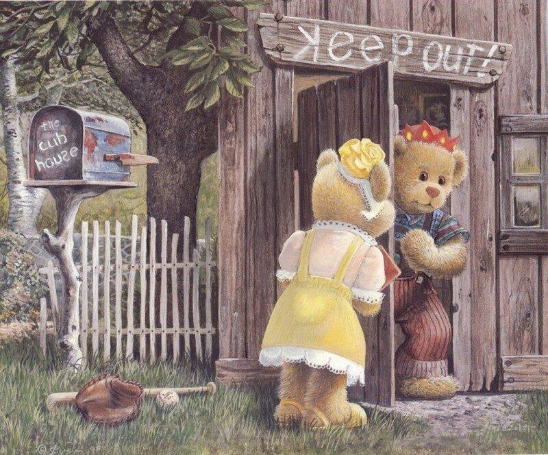 Плюшевые мишки иллюстратора John Bindon.