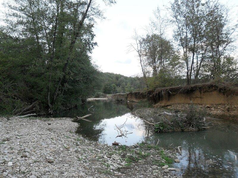 У реки Каверзе, окрестности Горячего Ключа
