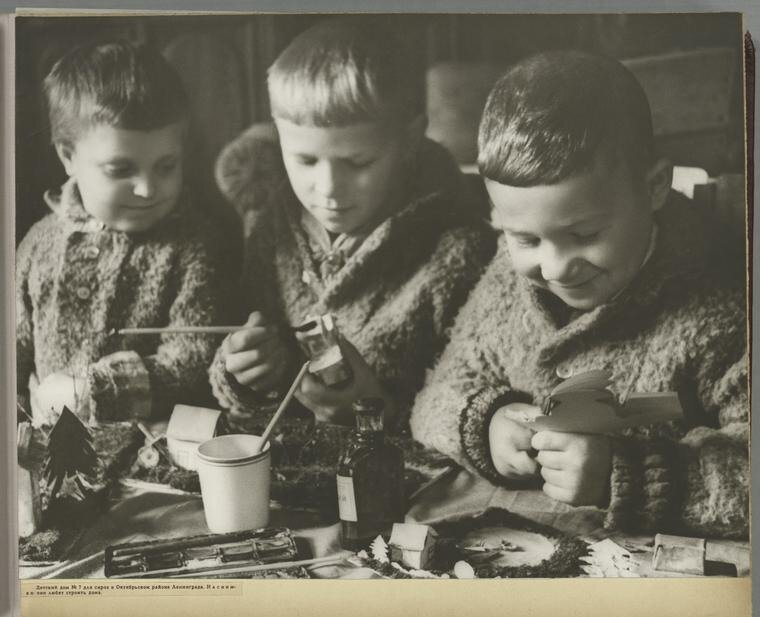 [Children at a kindergarten in Leningrad