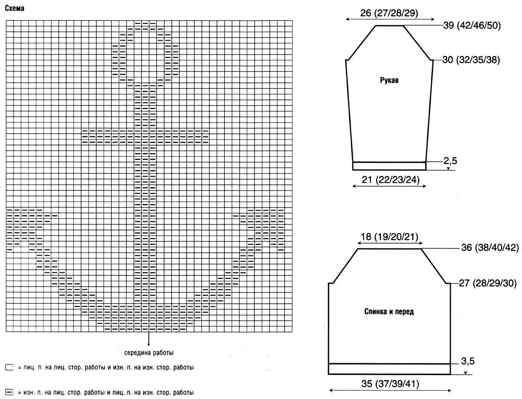 Схемы для вязания свитеров с рисунками