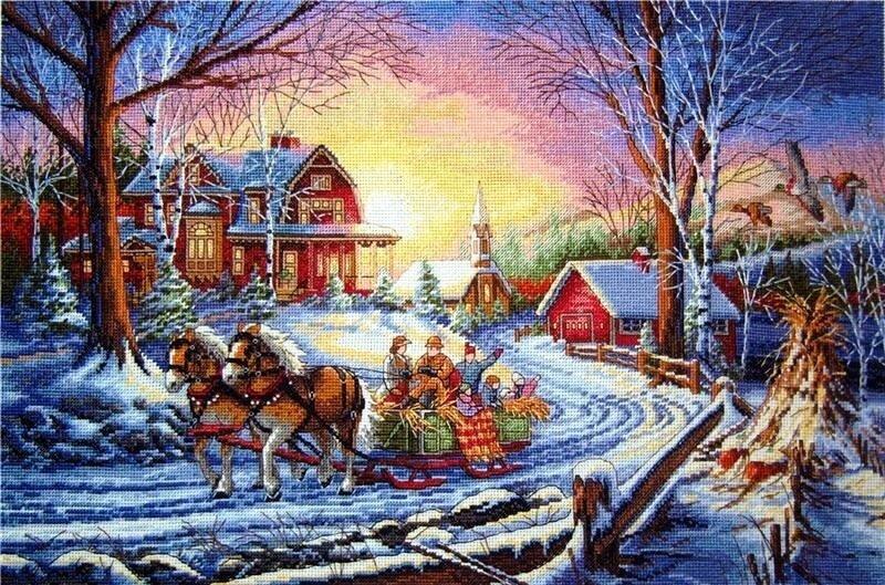 Магазин :: Вышивание :: Наборы :: Dimensions :: 35208 Зимние радости Pleasures of Winter - Чудо нить.