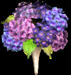 Синие и сиреневые цветочки