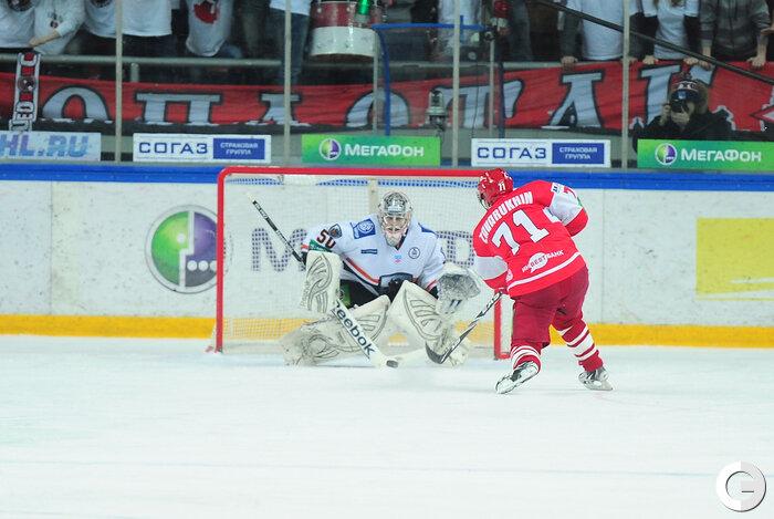 «Спартак» vs «Лев» 4:2 чемпионат КХЛ 2011-2012 (Фото)
