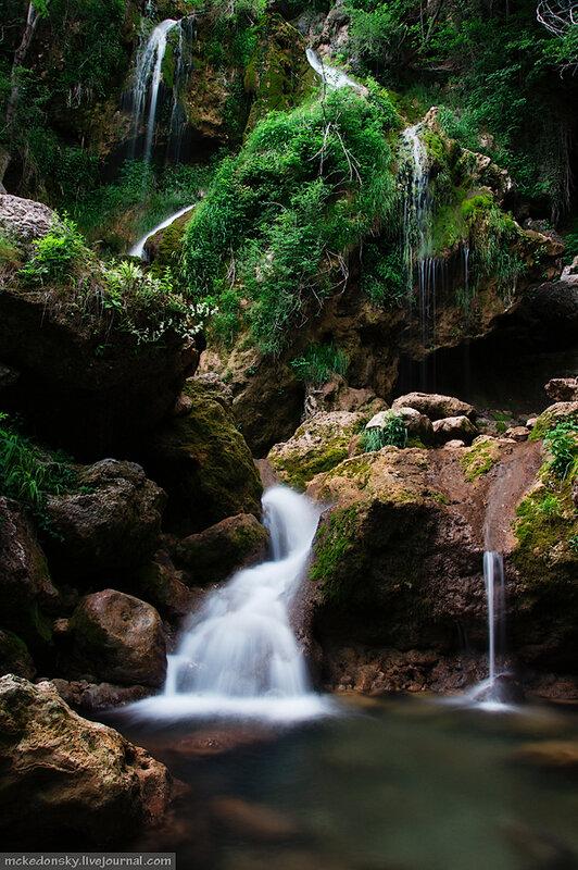 Пещера кизил коба и водопад су учхан