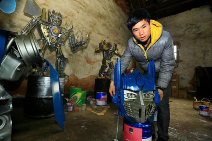 Трансформеры из мусора от китайских мастеров