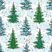 Seamless pattern, Christmas trees and snowflakes