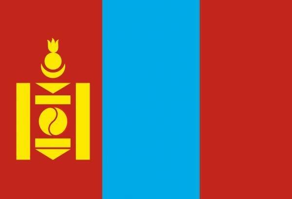 Государственный флаг Монголии.
