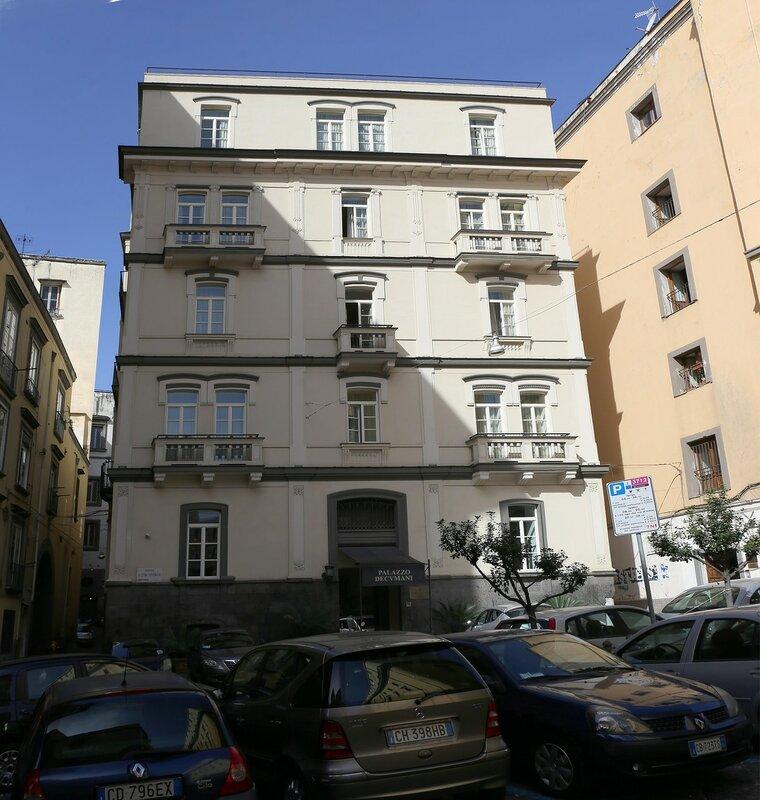 Naples. Via Grande Archivio. Decumani Palace (Palazzo Decumani)