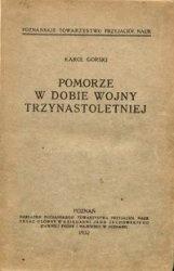 Книга Pomorze w dobie wojny trzynastoletniej