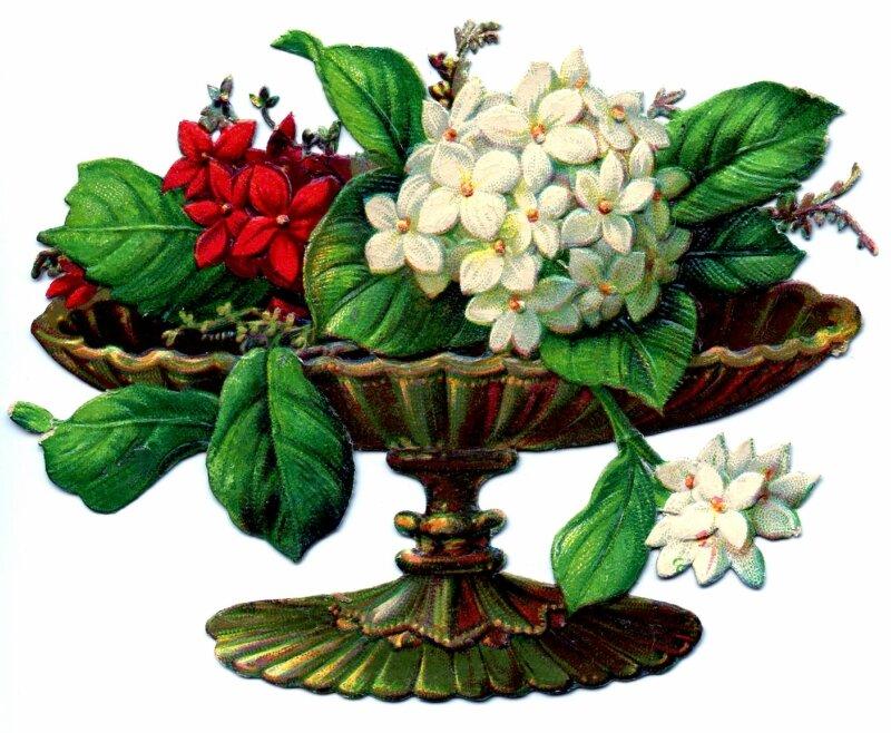 Ретро картинки для декупажа цветы 4