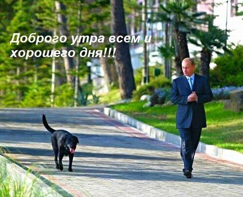 Путин:  Доброго утра всем и хорошего дня !!!