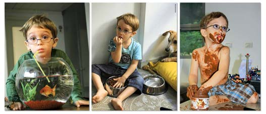 реклама детских очков - он хоть выглядеть будет умным