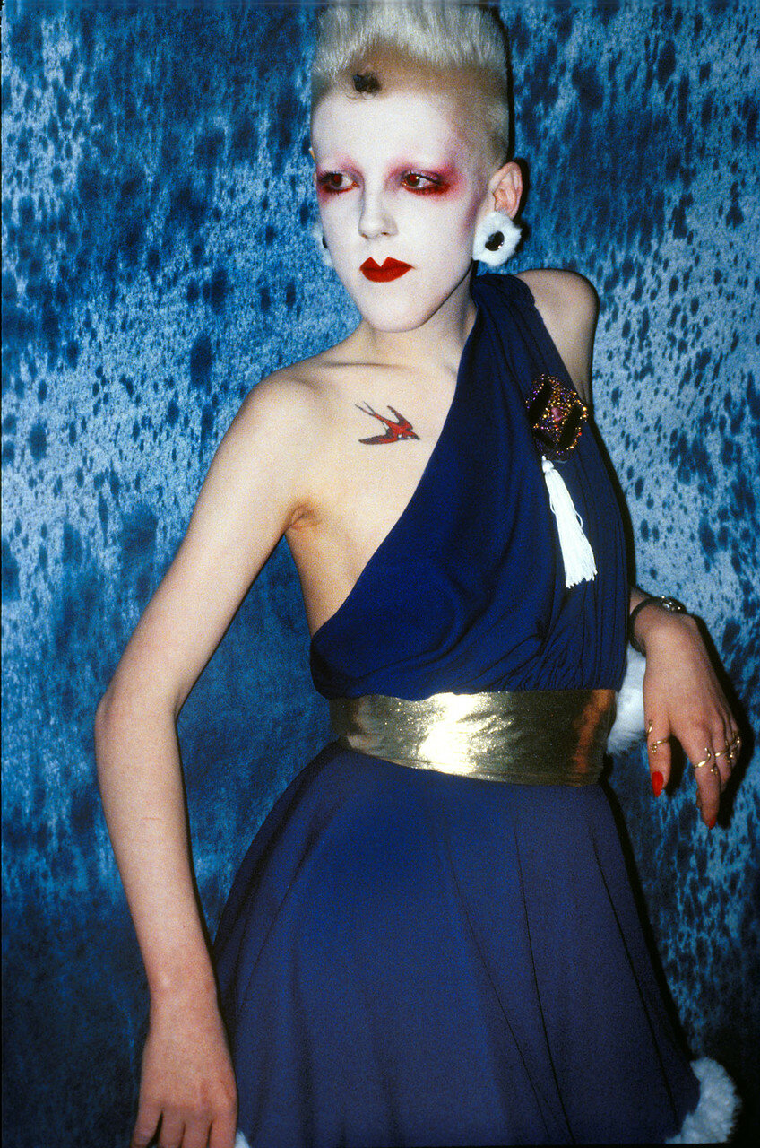 1981. Скарлетт во время конкурса  «Альтернативная мисс Мира»
