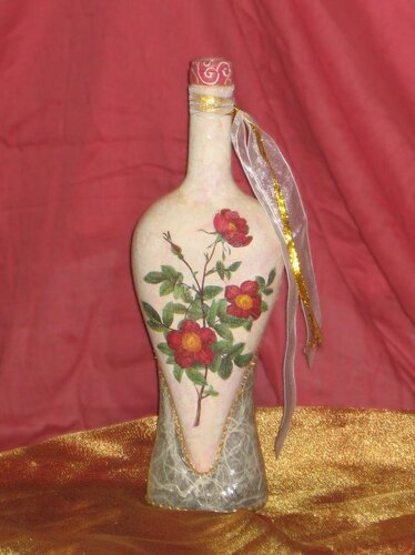 0 42c52 c97f480c L Декупаж бутылки в нежно розовых тонах
