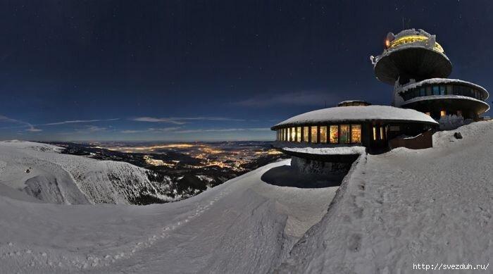 фото заснеженных гор