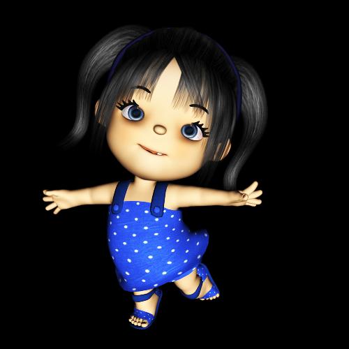 Клип арт детки 3D 23