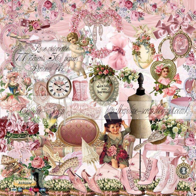 Мерцающими розами, картинки скрап наборы