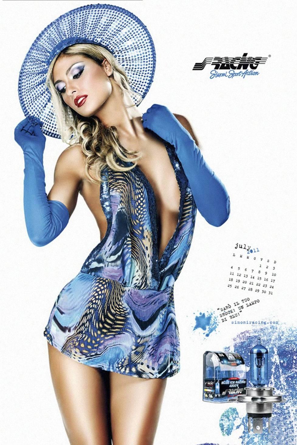 Giada Bellodi for Simoni Racing calendar 2011