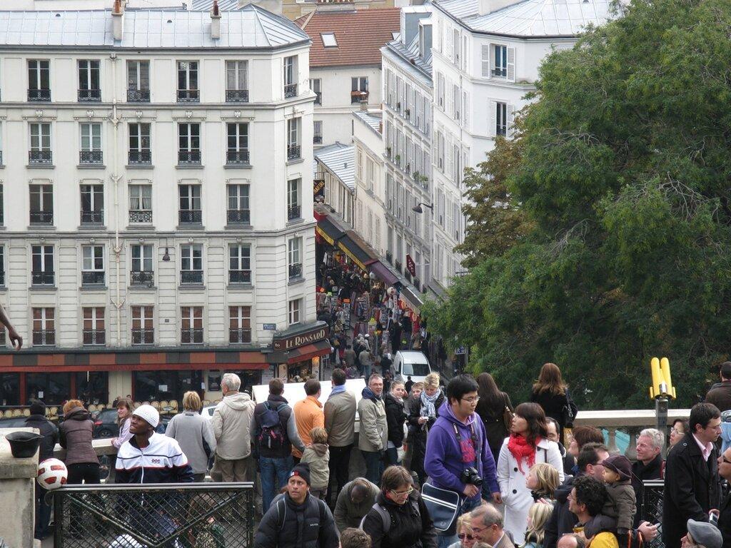 Обзорная площадка Сакре-Кёр (Parvis du Sacré-Cœur), Париж