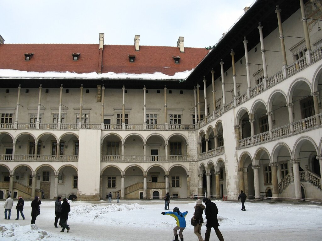 The Royal castle on Wawel hill
