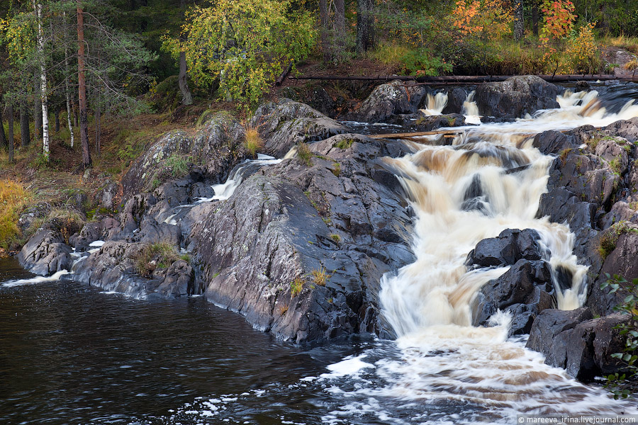 Водопад Ахвенкоски (в
